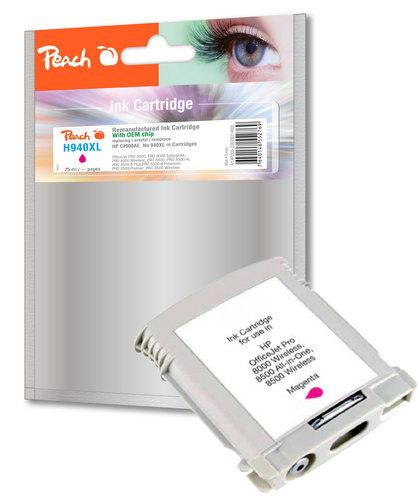 Peach Tintenpatrone magenta kompatibel zu HP No. 940XL, C4908AE