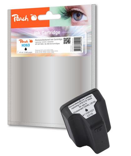 Peach Tintenpatrone schwarz HC kompatibel zu HP No. 363, C8719EE