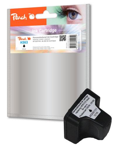 Peach Tintenpatrone schwarz kompatibel zu HP No. 363, C8721EE