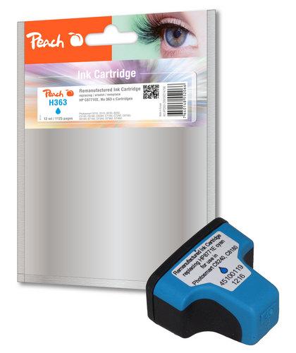 Peach Tintenpatrone cyan kompatibel zu HP No. 363, C8771EE