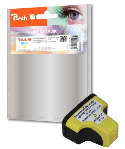 Peach Cartouche d'encre jaune compatible avec HP No. 363, C8773EE