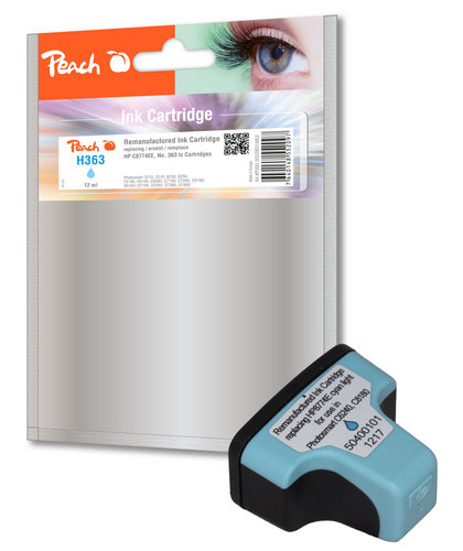 Peach Tintenpatrone cyan light kompatibel zu HP No. 363, C8774EE