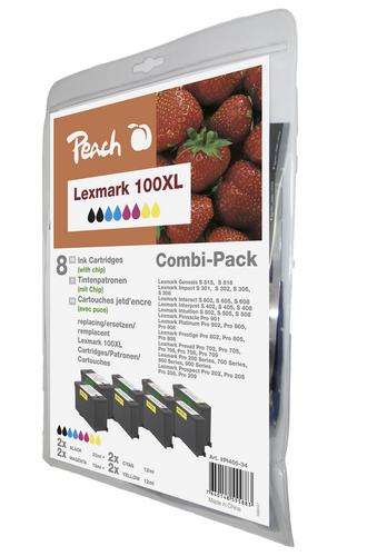 Peach Spar Pack Tintenpatronen kompatibel zu Lexmark Nr. 100XL