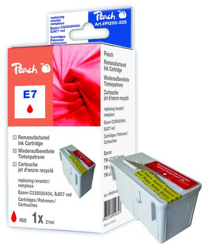 Peach Cartouche d'encre rouge, compatible avec Epson C33S020404, SJIC7 red