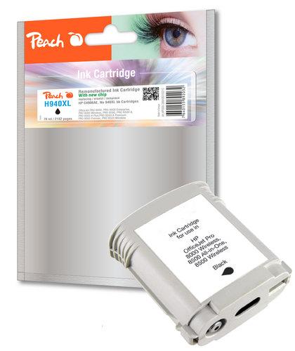 Peach Cartouche d'encre noire HC compatible avec HP No. 940XL, C4906AE