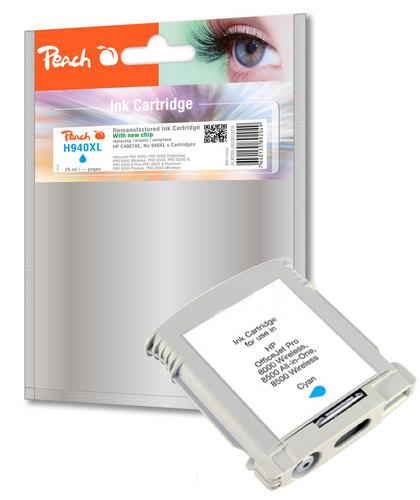 Peach Tintenpatrone cyan HC kompatibel zu HP No. 940XL, C4907AE