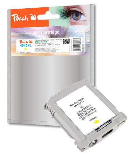 Peach Tintenpatrone gelb HC kompatibel zu HP No. 940XL, C4909AE