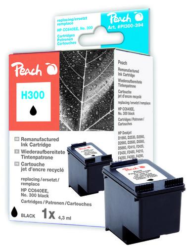 Peach Druckkopf schwarz kompatibel zu HP No. 300, CC640EE