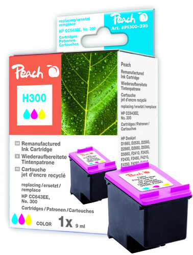 Peach Tête d'impression couleur, compatible avec HP No. 300, CC643EE