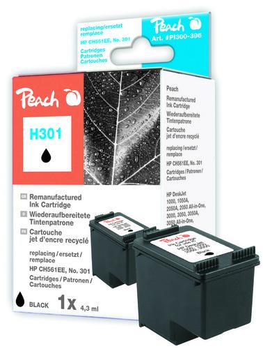 Peach Tête d'impression noire, compatible avec HP No. 301, CH561EE