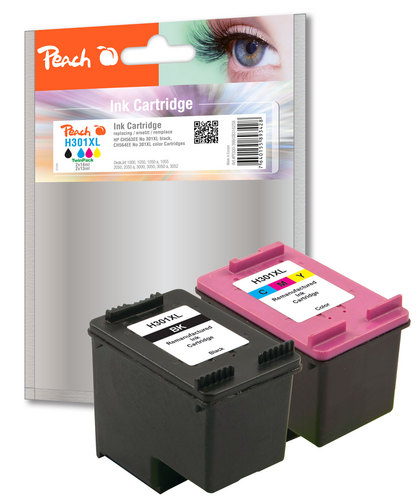 Peach Multipack, compatible avec HP No. 301XL, CH563EE, CH564EE