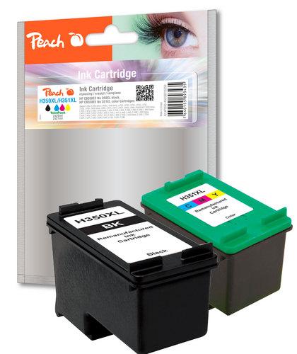 Peach Multipack, compatible avec HP No. 350XL noire, No. 351XL couleur