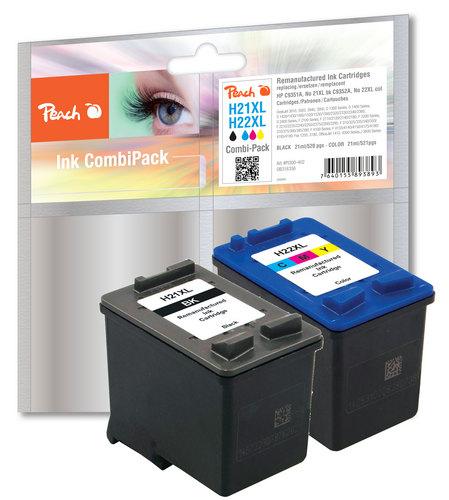 Peach Multipack, compatible avec HP No. 21XL, C9351AE, No. 22XL, C9352AE