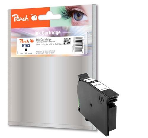 Peach Cartouche d'encre noir, compatible avec Epson T1631, No. 16XL bk