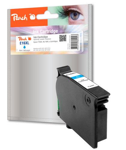 Peach Cartouche d'encre cyan, compatible avec Epson T1632, No. 16XL c