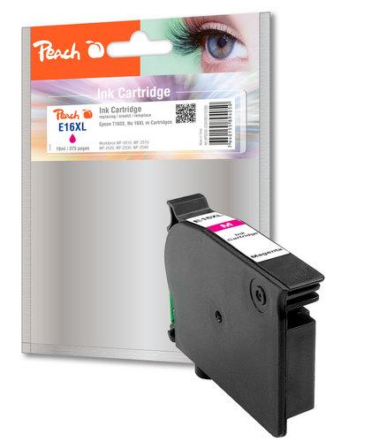 Peach Cartouche d'encre magenta, compatible avec Epson T1633, No. 16XL m