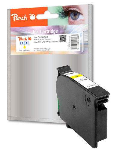 Peach Cartouche d'encre jaune, compatible avec Epson T1634, No. 16XL y
