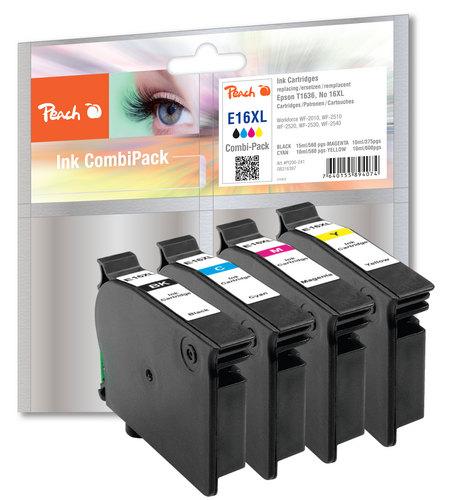 Peach Spar Pack Tintenpatronen kompatibel zu Epson T1636, No. 16XL