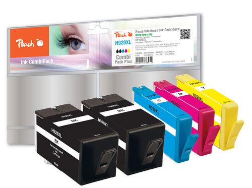 Peach Multipack Plus avec puce compatible avec HP No. 920XL