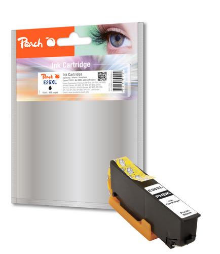 Peach Tintenpatrone HY foto schwarz kompatibel zu Epson No. 26XL pbk, T263140