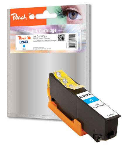 Peach Tintenpatrone HY cyan kompatibel zu Epson No. 26XL c, T263240