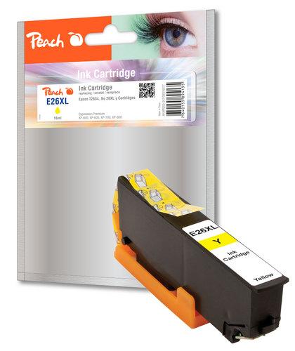 Peach Tintenpatrone HY gelb kompatibel zu Epson No. 26XL y, T263440