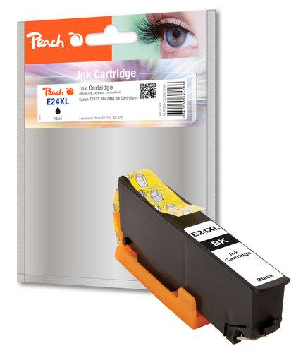 Peach Cartouche d'encre XL noir, compatible avec Epson No. 24XL bk, T2431