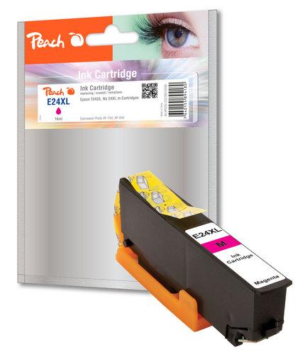 Peach Cartouche d'encre XL magenta, compatible avec Epson No. 24XL m, T2433