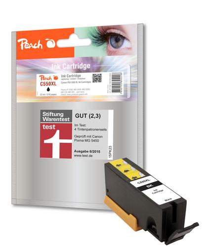 Peach Cartouche d'encre noire compatible avec Canon PGI-550, PGI-550PGBK XL