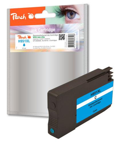 Peach Tintenpatrone cyan HC kompatibel zu HP No. 951XL, CN046AE