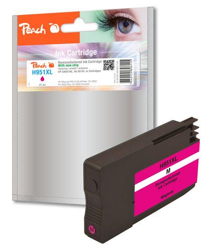 Peach Tintenpatrone magenta HC kompatibel zu HP No. 951XL, CN047AE