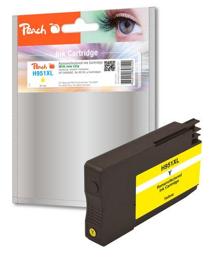 Peach Cartouche d'encre jaune HC compatible avec HP No. 951XL, CN048AE