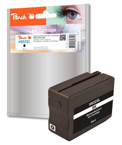 Peach Cartouche d'encre noire HC compatible avec HP No. 932XL, CN053AE