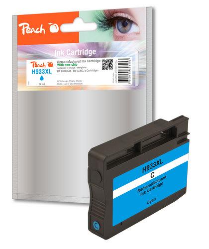 Peach Cartouche d'encre cyan HC compatible avec HP No. 933XL, CN054AE