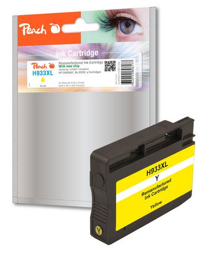 Peach Cartouche d'encre jaune HC compatible avec HP No. 933XL, CN056AE