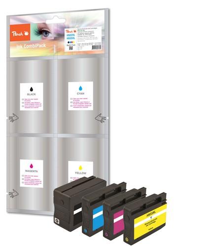 Peach Spar Pack Tintenpatronen kompatibel zu HP No. 932XL, No. 933XL