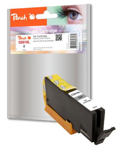 Peach Cartouche d'encre Photo gris compatible avec Canon CLI-551gyXL