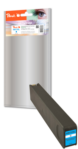 Peach Cartouche d'encre cyan HC compatible avec HP No. 971XL, CN626AE