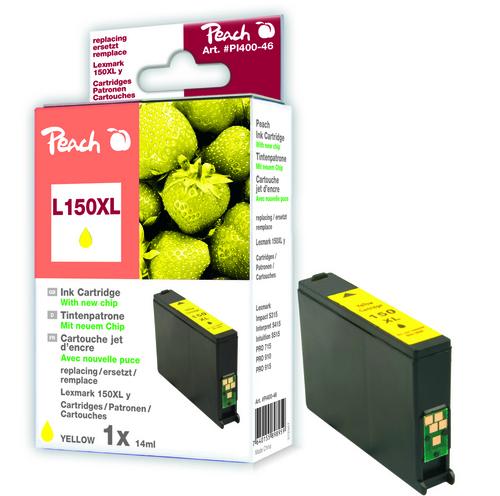 Peach Tintenpatrone gelb XL kompatibel zu Lexmark No. 150XL