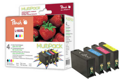 Peach Multipack avec chip, XL-Yield, compatible avec Lexmark No. 150XL