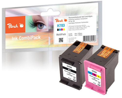 Peach Multipack, compatible avec HP No. 703 Series