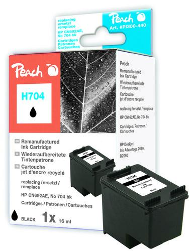 Peach Druckkopf schwarz kompatibel zu HP No. 704, CN692AE