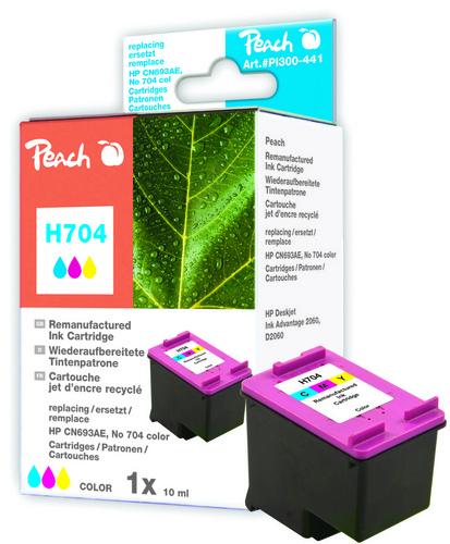 Peach Tête d'impression couleur, compatible avec HP No. 704, CN693AE