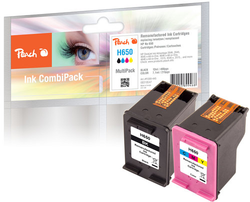 Peach Multipack, compatible avec HP No. 650 Series