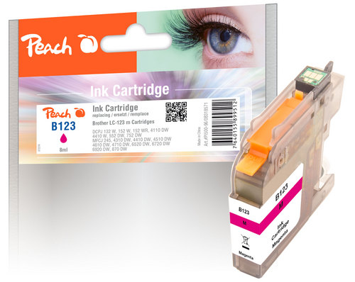 Peach Tintenpatrone magenta kompatibel zu Brother LC-123