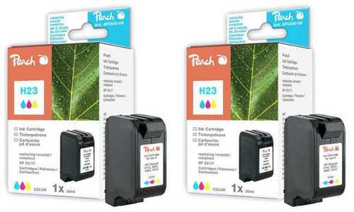 Peach Twin Pack Cartouche d'encre couleur, compatible Kodak, HP No. 23, C1823D