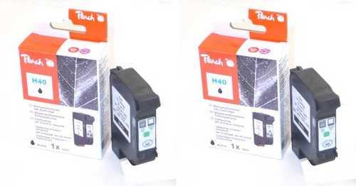 Peach Doppelpack Druckköpfe schwarz kompatibel zu Xerox, HP no.40, 51640AE