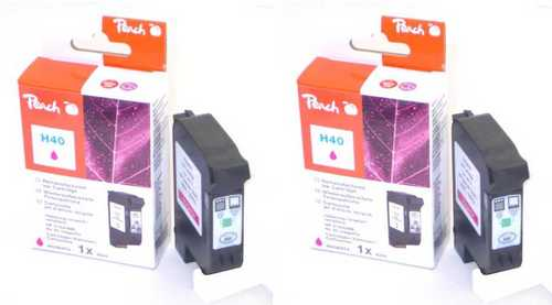 Peach Twin Pack Tête d'impression magenta, compatible avec Xerox, HP No. 40
