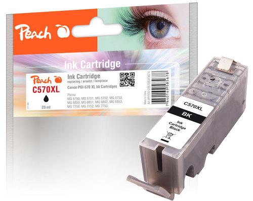 Peach Tintenpatrone XL schwarz kompatibel zu Canon PGI-570XL bk