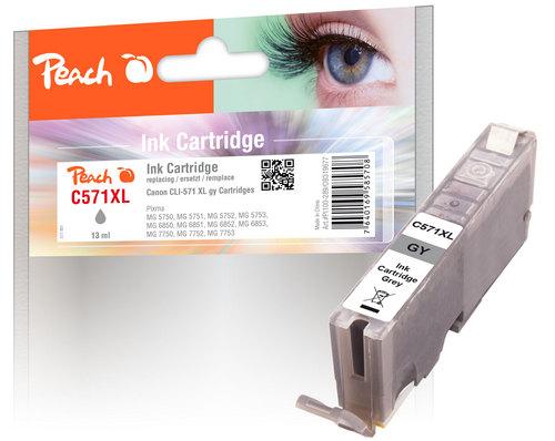 Peach Tintenpatrone XL grau kompatibel zu Canon CLI-571XL gy